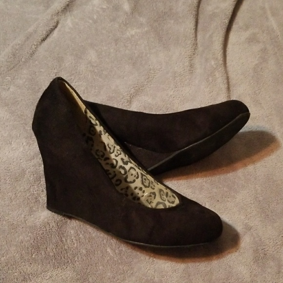 Cato Shoes - Cato Black Wedges 11W